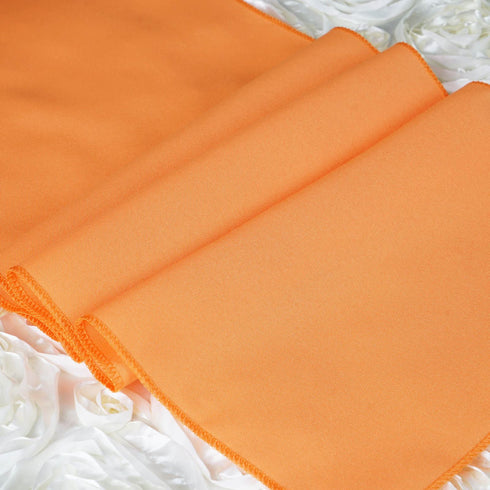 ORANGE Polyester Runner - Table Top Wedding Catering Party Decorations