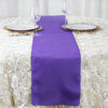 PURPLE Polyester Runner - Table Top Wedding Catering Party Decorations