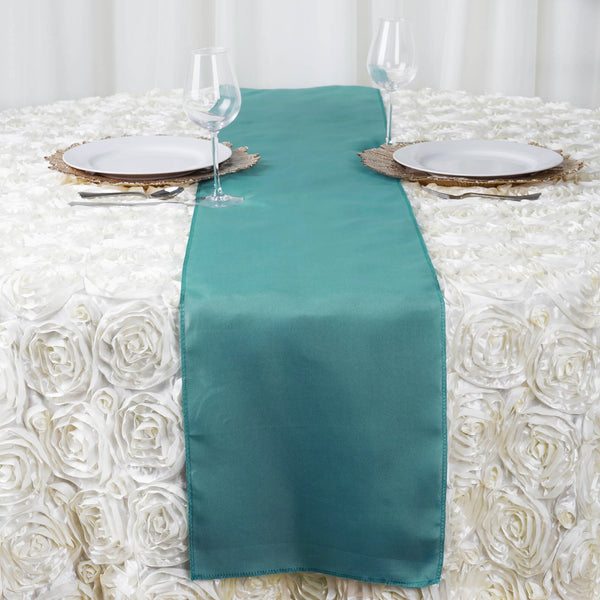 "12""x108"" Turquoise Polyester Table Runner"
