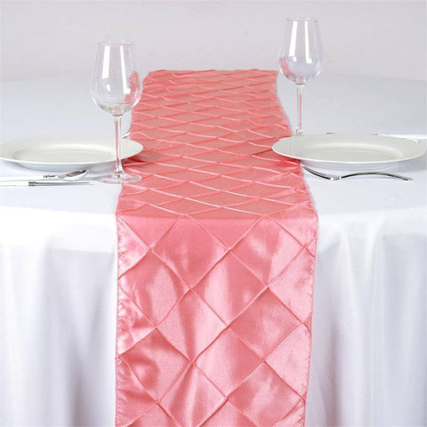 Rose Quartz Pintuck Table Runner