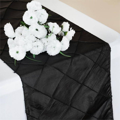 Black Pintuck Table Runner