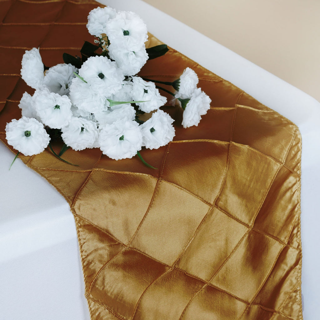 Champagne Pintuck Table Runner