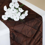 Chocolate Pintuck Table Runner
