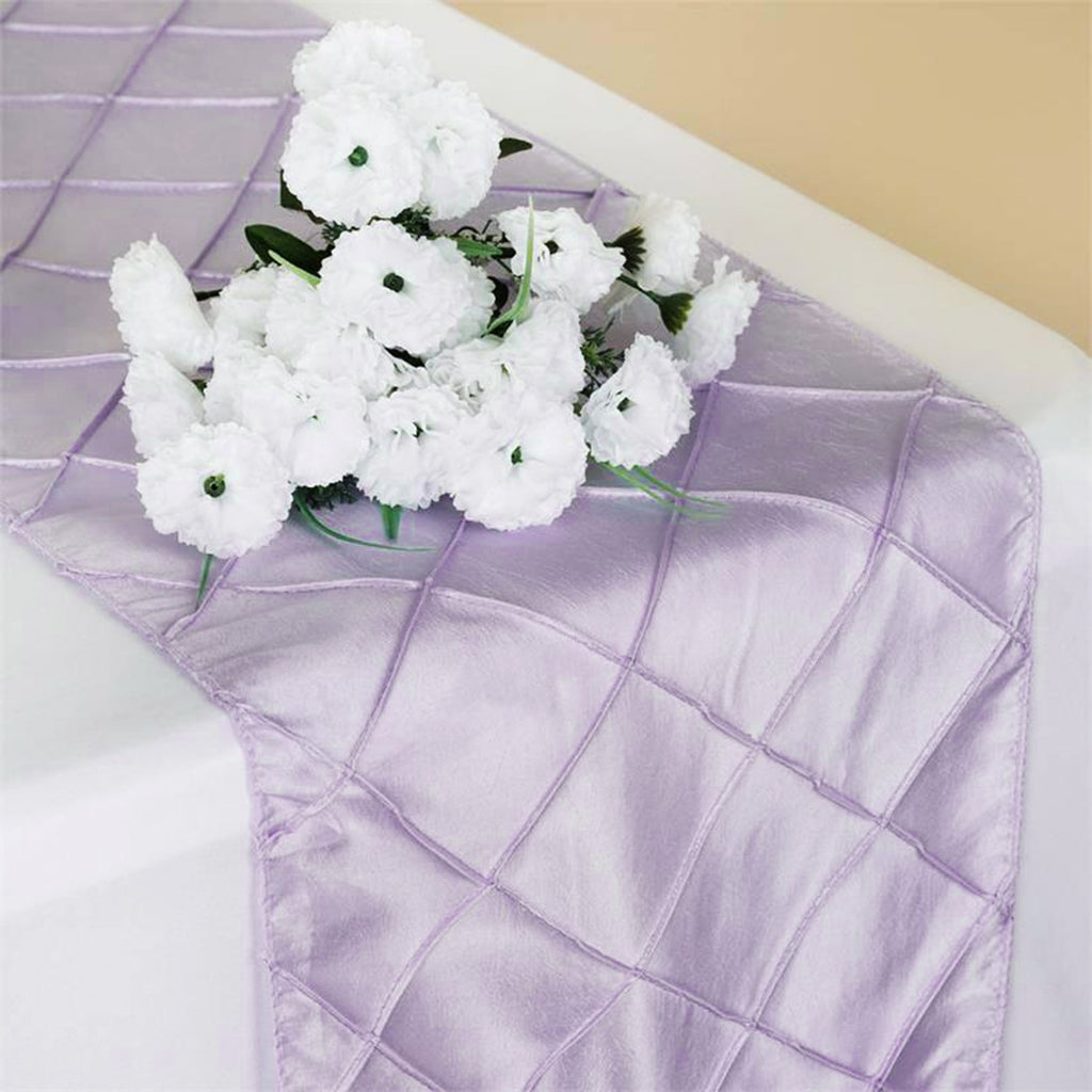 Lavender Pintuck Table Runner