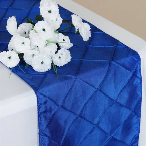 Royal Blue Pintuck Table Runner