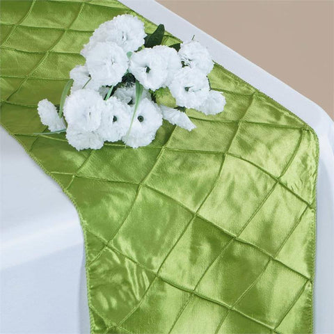 Sage Green Pintuck Table Runner