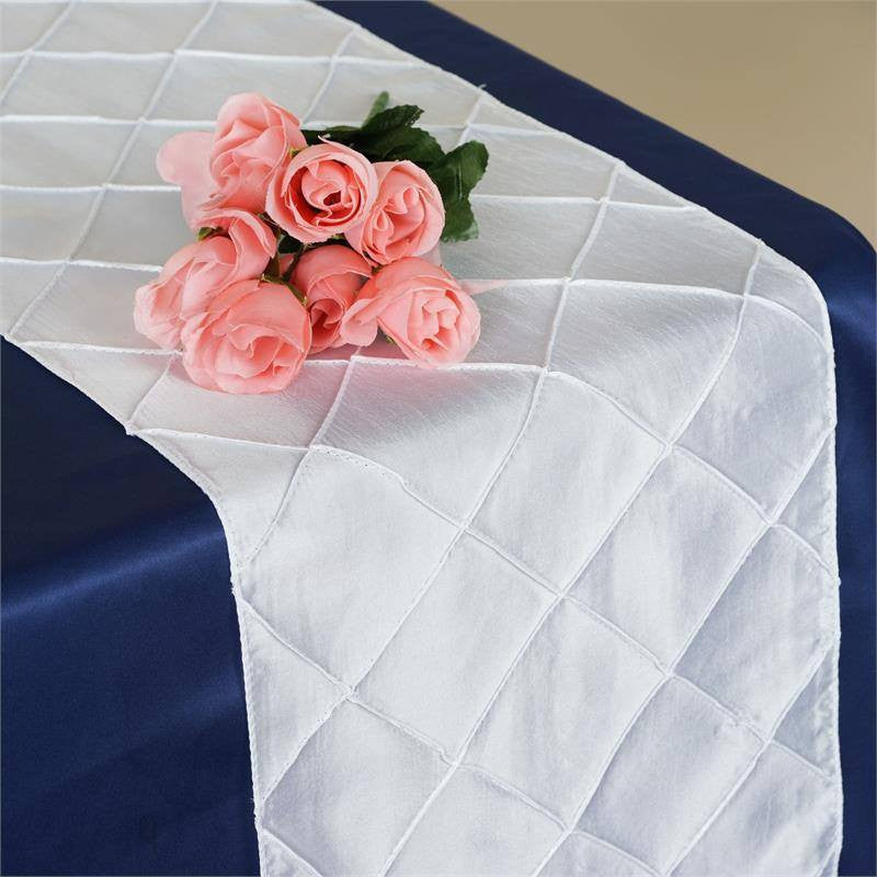 White Pintuck Table Runner