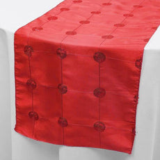 "Wholesale Red Premium Sequin Taffeta Table Runner For Wedding Party Table Decoration -14""x108""( Sold Out )"