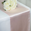 "12"" x 108"" SATIN Runner For Table Top Wedding Catering Party Decorations-Blush"