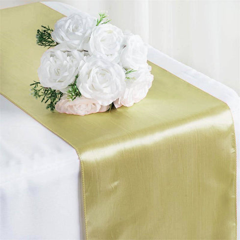 "12""x108"" Champagne Satin Table Runner"