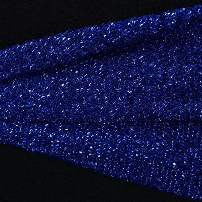 5 Pack Royal Blue Metallic Shiny Glittered Spandex Chair Sashes
