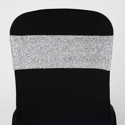 5pc x MY DREAMY Spandex Chair Sash - Metallic Silver