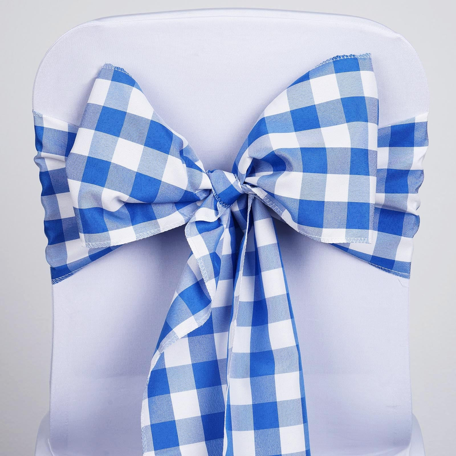 Prime Gingham Chair Sashes 5 Pcs Royal Blue White Buffalo Plaid Checkered Polyester Chair Sashes Andrewgaddart Wooden Chair Designs For Living Room Andrewgaddartcom