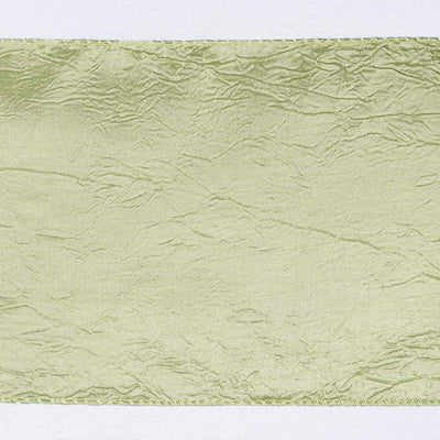 5pc x Apple Green Taffeta Crinkle Sash