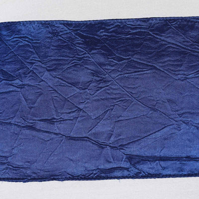5pc x Navy Blue Taffeta Crinkle Sash