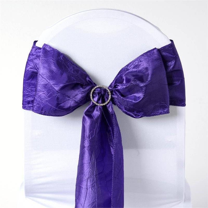 5pc x Purple Taffeta Crinkle Sash