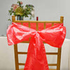 "5 PCS | 6""x106"" Red Crinkle Crushed Taffeta Chair Sashes"