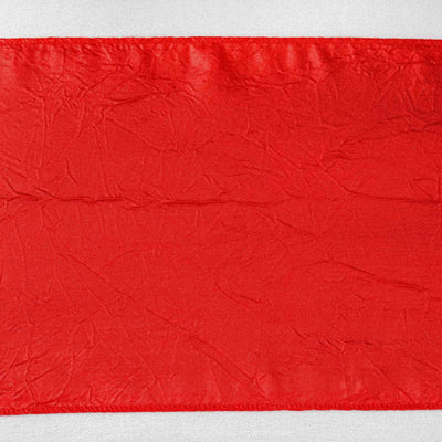 5pc x Red Taffeta Crinkle Sash