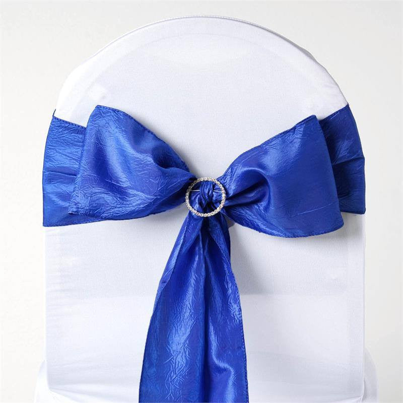 5pc x Royal Blue Taffeta Crinkle Sash