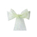 5 PCS | 7 Inch x108 Inch | Apple Green Embroidered Organza Chair Sashes | eFavorMart