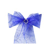 5 PCS | 7 Inch x108 Inch | Royal Blue Embroidered Organza Chair Sashes | eFavorMart