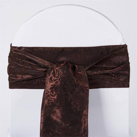 5pc x Dual-Tone Edition Flocking Chair Sash - Chocolate / Chocolate