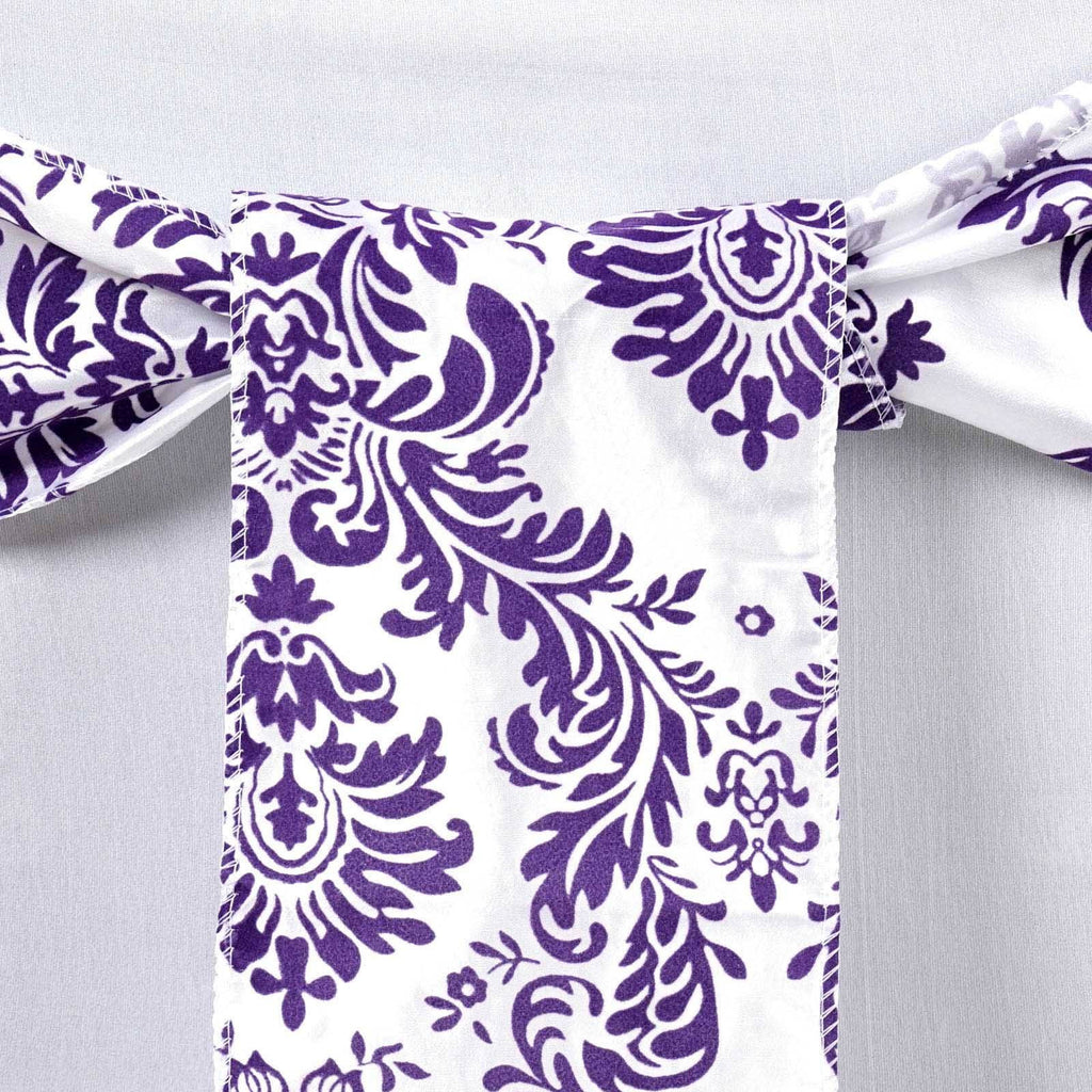 5pc x Flocking Chair Sash - Purple
