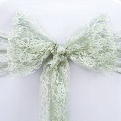 5pc x JOLLY GOOD Lace Chair Sashes - color- reseda