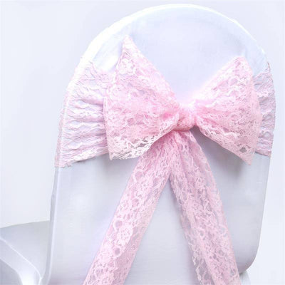 5pc x JOLLY GOOD Lace Chair Sashes - Pink