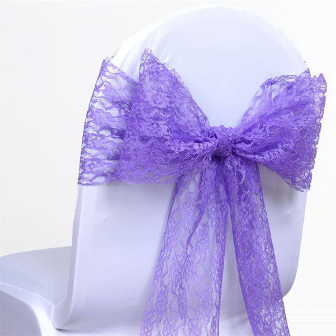 5pc x JOLLY GOOD Lace Chair Sashes - Purple