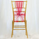 5 PCS | Coral Sheer Organza Chair Sashes