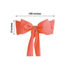 6''x108'' | 5 PCS Coral Polyester Chair Sash