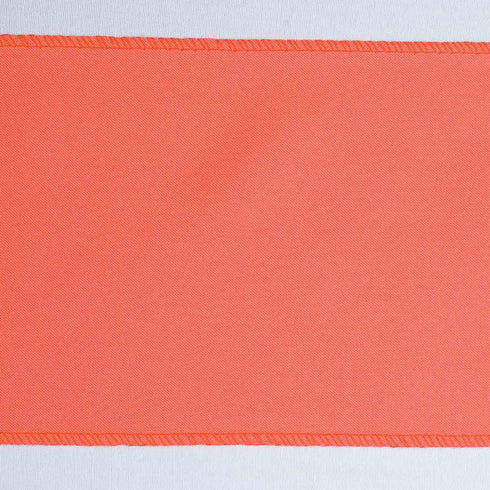 "5 PCS | 6"" x 108"" Coral Red Polyester Chair Sash"