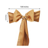 5 PCS | GOLD Polyester Chair Sashes