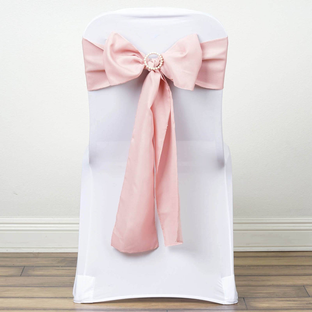 5 PCS x MAUVE Polyester Chair Sashes Tie Bows Catering Wedding Party Decorations