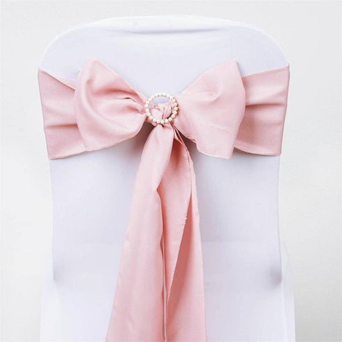 "5 PCS | 6"" x 108"" Dusty Rose Polyester Chair Sash"