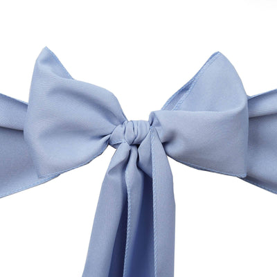 5 PCS x SERENITY Polyester Chair Sashes Tie Bows Catering Wedding Party Decorations