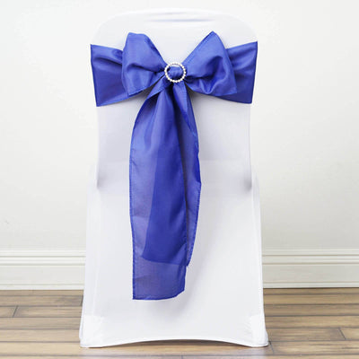 5 PCS x ROYAL BLUE Polyester Chair Sashes Tie Bows Catering Wedding Party Decorations