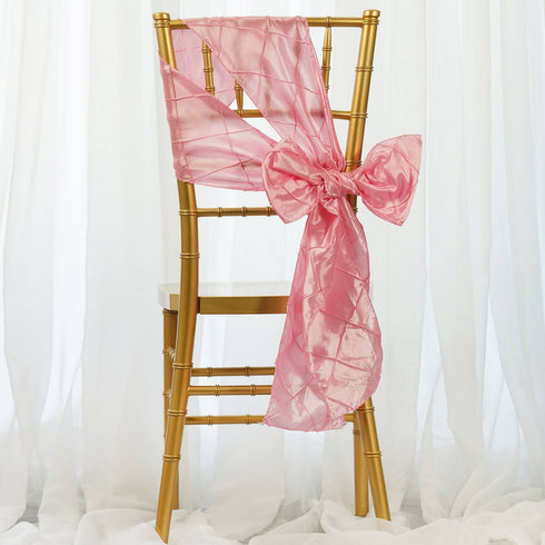 5pc x Pink Pintuck Chair Sash