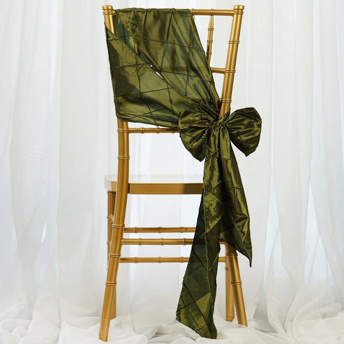 5pc x Pintuck Chair Sash - Moss/Willow
