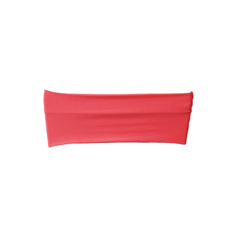 "5 pack | 5""x12"" Coral Spandex Stretch Chair Sash"