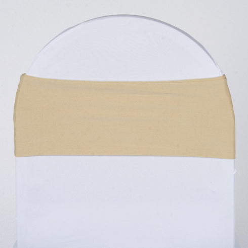 5pc x SEXY Spandex Chair Sash - Champagne