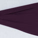 "5 pack | 5""x12"" Eggplant Spandex Stretch Chair Sash"