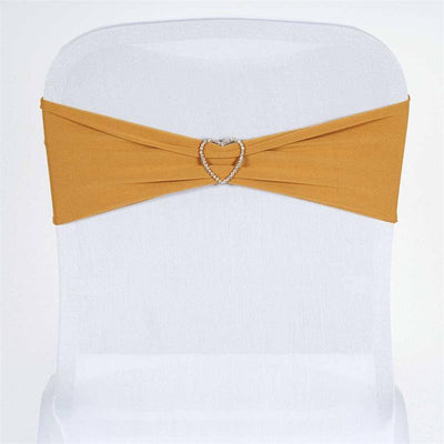 5pc x SEXY Spandex Chair Sash - Gold