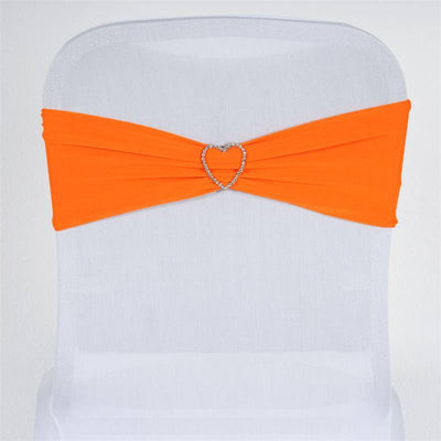 5pc x SEXY Spandex Chair Sash - Orange