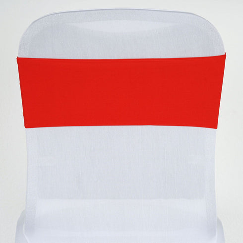 5pc x SEXY Spandex Chair Sash - Red
