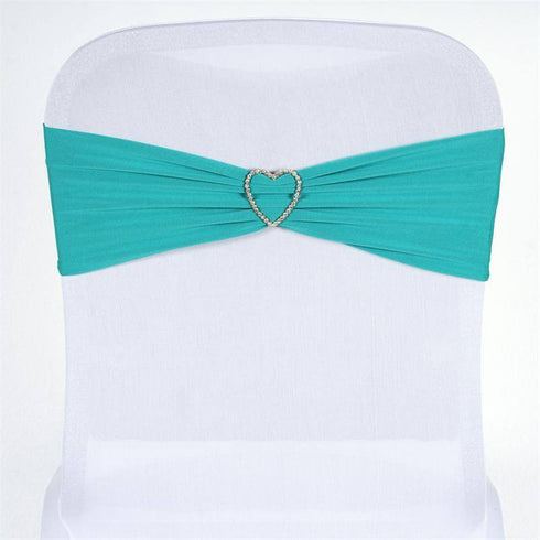 5 pcs wholesale turquoise spandex stretch chair sash catering