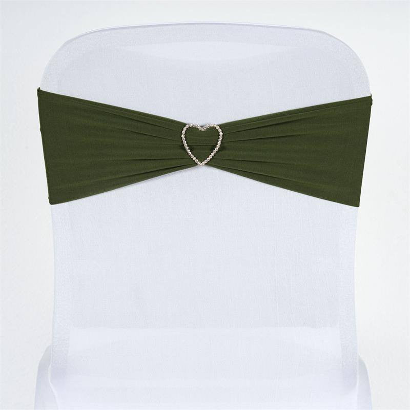 5pc x SEXY Spandex Chair Sash - Moss/Willow