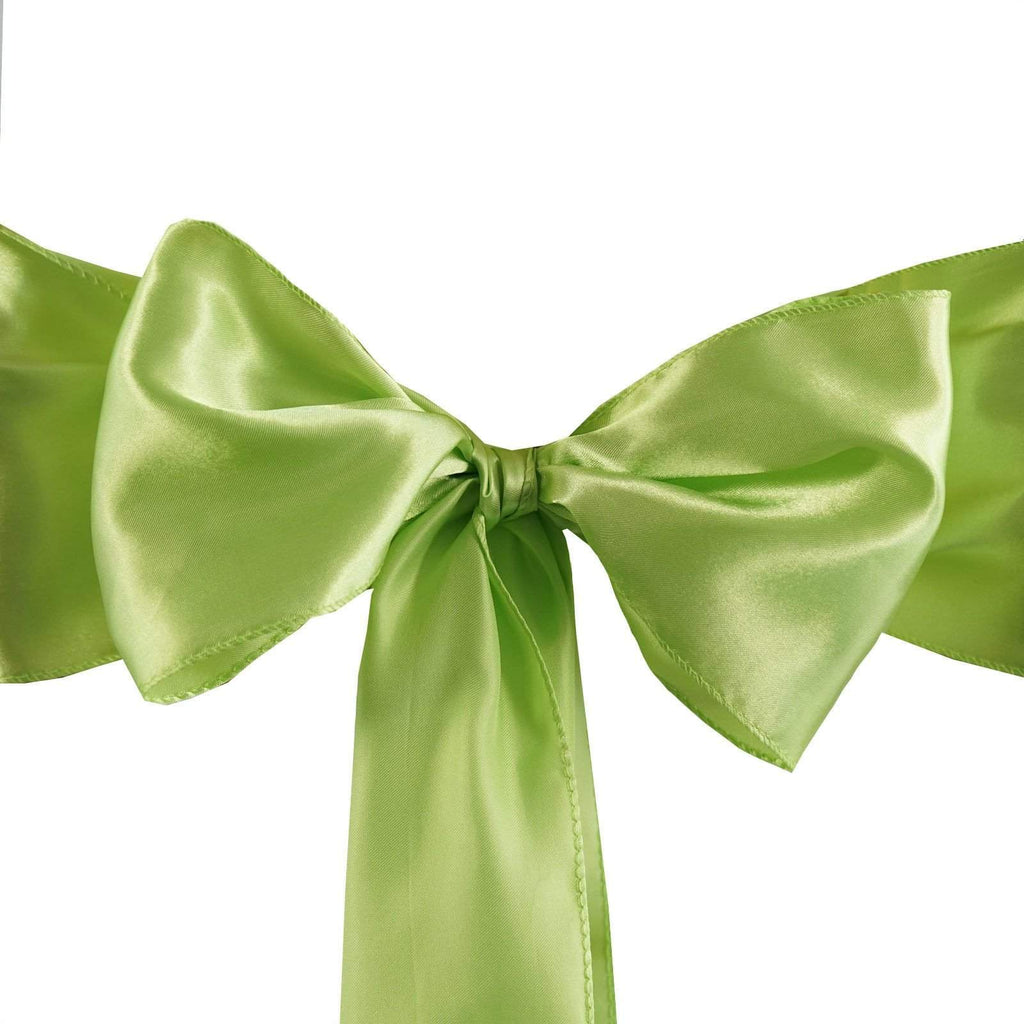 5pc x Satin Apple Green Chair Sash