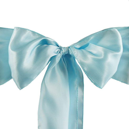 5pc x Satin Lt Blue Chair Sash